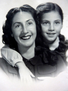 With my mother during WWII