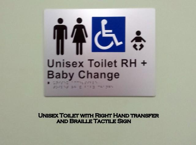 Unisex Toilet Sign
