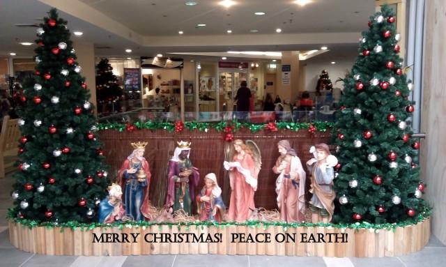 Nativity scene at Bridegpoint Shopping Centre, Mosman, Australia
